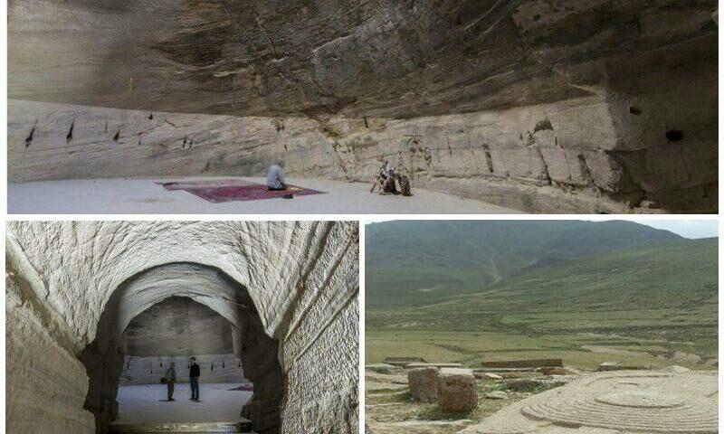 آذرشهر غار قدمگاه که توسط ایر