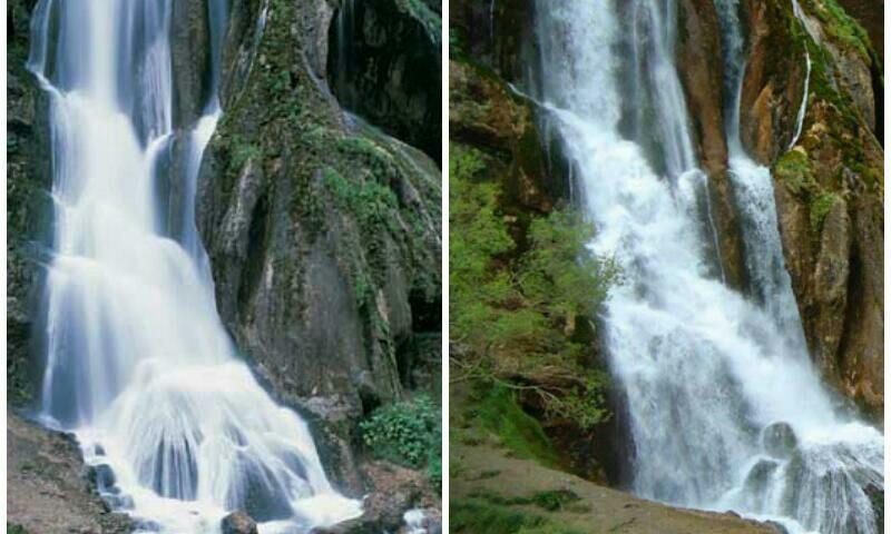 الیگودرز آبشار آب سفید در ا