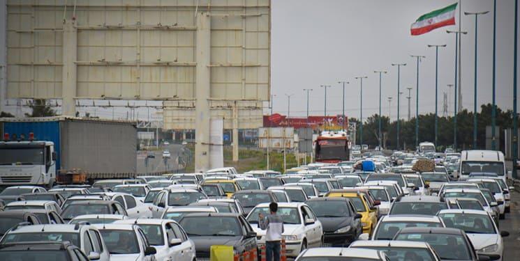 ترافیک سنگین در مبادی ورودی و خروجی البرز